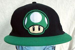 Super Mario Green Mushroom Hat 1Up Life Stretch Band One Size Cap ... 3fffe12411c9