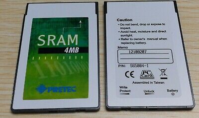 S65004-I with BATTERY BACK UP PRETEC old version sram card 4M 4mb Pn