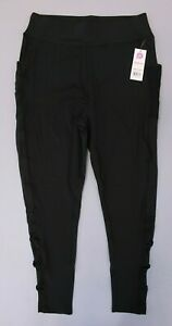 Pop-Fit-Women-039-s-Lily-w-Pockets-Athletic-Leggings-Black-MM1-Size-Medium-NWT