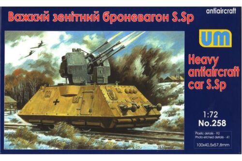 UNIMODELS 258 1//72 Heavy Antiaircraft Car S.Sp Armored