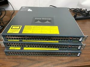 3x-Cisco-Catalyst-WS-C4948-E-V04-48-Port-Ethernet-Switches