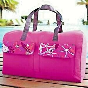 économiser 53f82 e64a9 Détails sur Grand sac de voyage pratique, coloré rose fushia, multipoches.