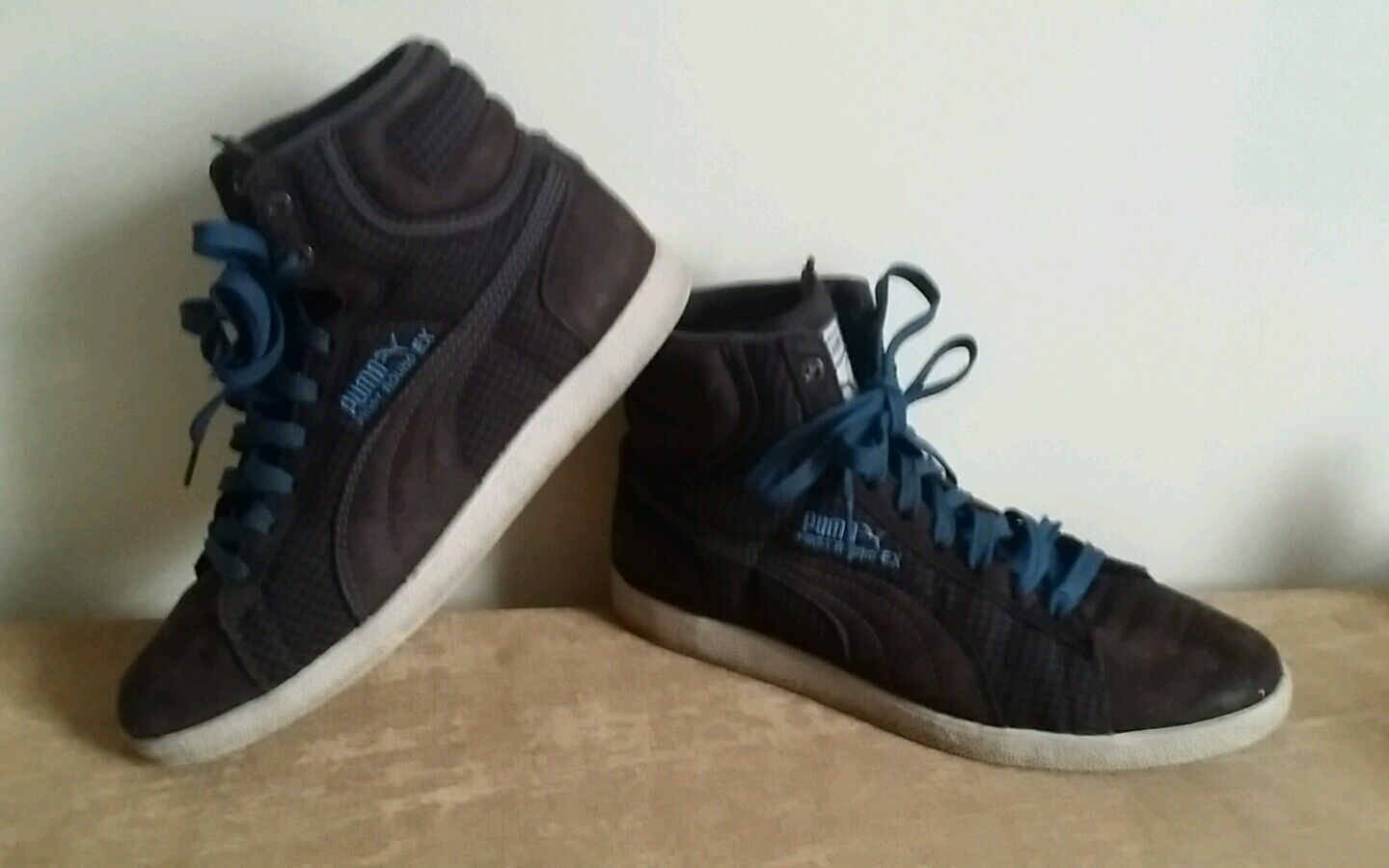 Puma first round ex mens / ladies older boys / trainers girls brown high top trainers / 5 427ea8