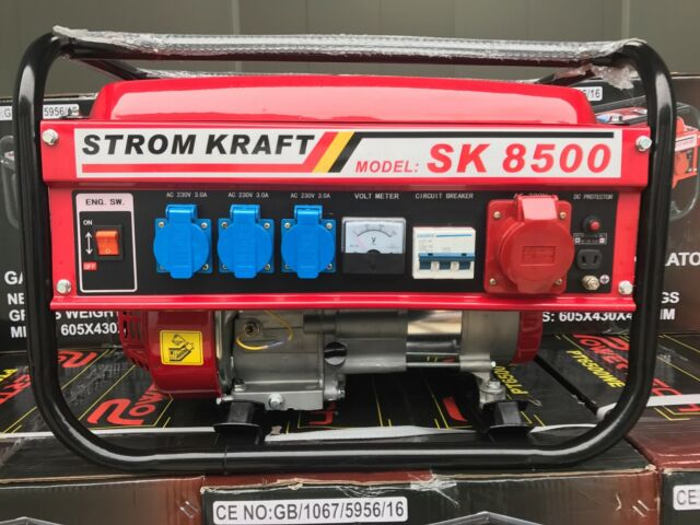 Benzin Stromerzeuger Strom Generator Notstromaggregat Aggregat 230 Volt 400 Volt