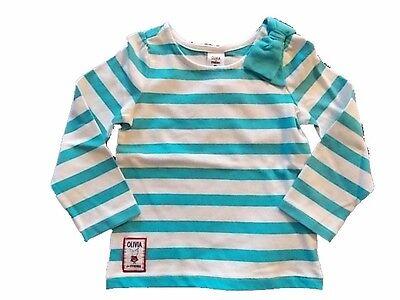 NWT Boys Gymboree Blue Safari aqua blue striped shirt ~ 18 24 months 2T