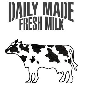 Milk Cow Dairy Cattle Stencil For Crafting Reusable Template
