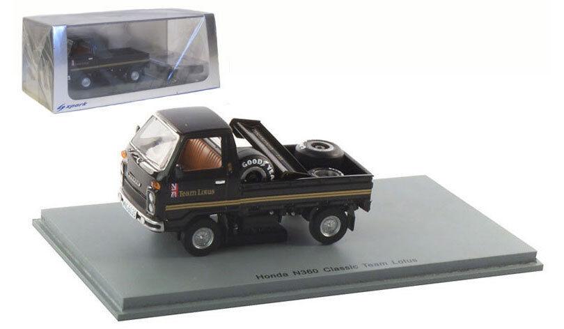 Spark S2677 Honda N360 Lotus 'JPS' 1978 F1 Support Vehicle - 1 43 Scale