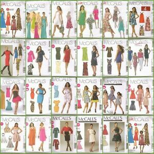 McCalls-Sewing-Pattern-Misses-Dress-with-McCall-039-s-Plus-Size-Dresses-Your-Choice
