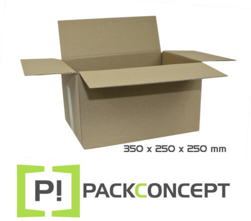 #6 Faltkarton 1-wellig 350 x 250 x 250 mm; Karton; Pappkarton; Versandkarton