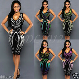 Sexy-Women-s-Summer-Bandage-Bodycon-Evening-Party-Cocktail-Short-Mini-Dress-Hot