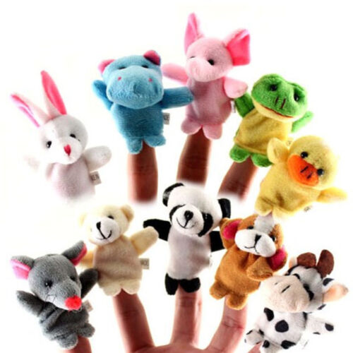 Lovely For Finger Puppets Cloth Doll Baby Educational Animals Cartoon Toy 10Pcs
