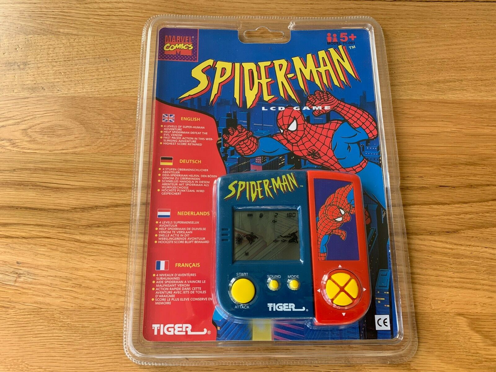 Rare Tiger Spider Man Vintage 1990's LCD Handheld Electronic Game - New & Sealed