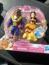 "Belle and Beast Disney Princess Royal Clips Fashion 3.25/"" Dolls"
