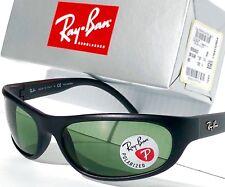 Ray Ban Sport Wrap Gloss Black W Polarized Percription Lens Sunglass RB 4033