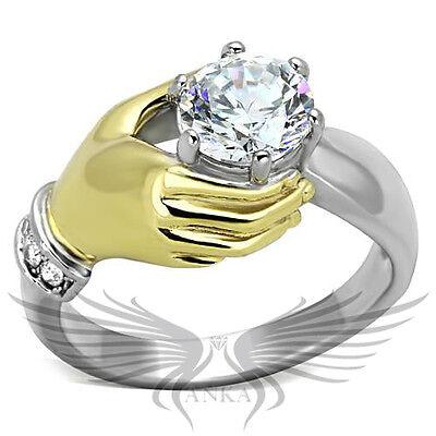 Brilliant 1.3ct Round Cubic Zircon CZ AAA Engagement Ring 5 6 7 8 9 10 TK1822