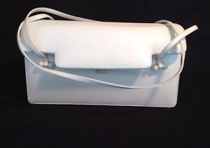 Vintage-1970-039-s-80-039-s-JUDITH-LEIBER-Bone-Ivory-White-Leather-Evening-Handbag-Purse