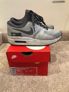 Details about NIKE AIR MAX ZERO ESSENTIAL PS SIZE 13C YOUTH—WOLF GREYDARK GREY