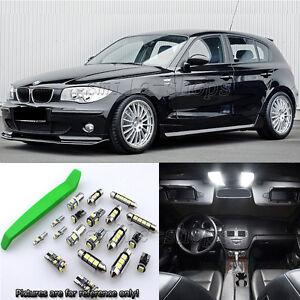 White 11pcs Interior LED Light Kit for 2005-2015 BMW 1 Series E87 + Free Tool