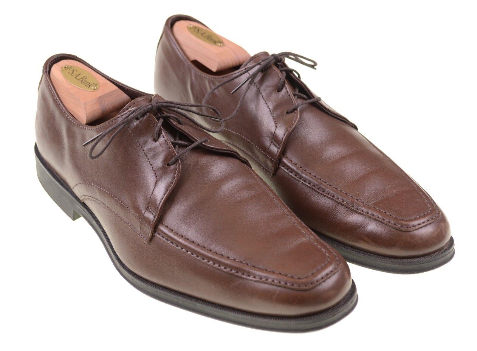 Allen Edmonds Tribeca Brown Leather Apron Toe bluecher Derby Dress shoes 9 D