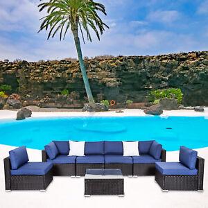 7PC-Wicker-Sofa-Set-Garden-Rattan-Sectional-Furniture-Outdoor-Patio-Cushion-Navy