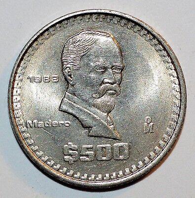 """vintage Mexican Peso /""""Madero/"""" MEXICO $500 Pesos coin"""