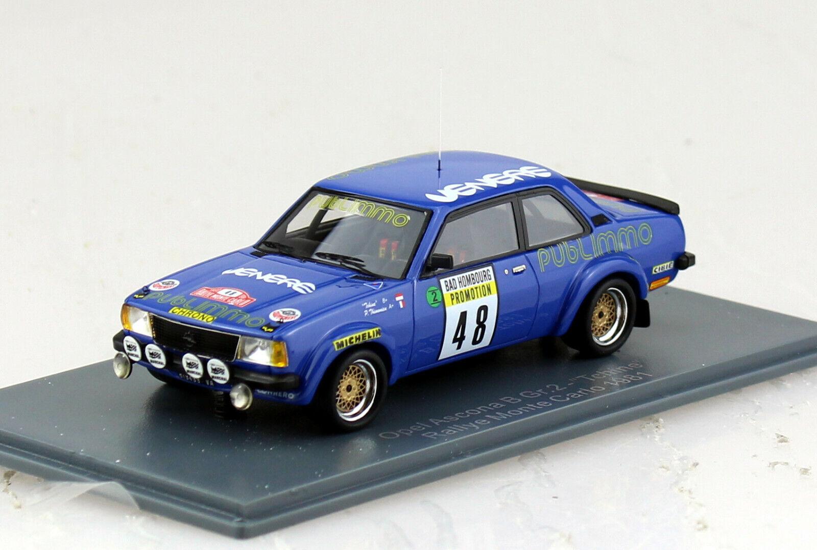 OPEL Ascona B gruppo 2 Racing Rally Monte Carlo  48 1981 1 43 NEO modello di auto