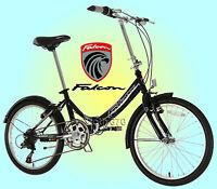 Falcon Foldaway 20 Wheel Folding Bike - 6 Speed Shimano Gears - Black