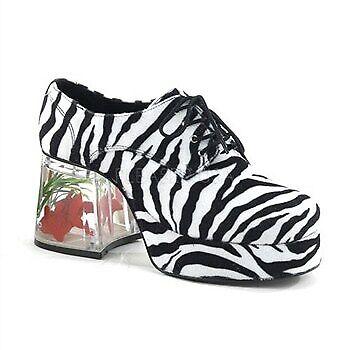 15cab7202e2 Funtasma Pimp-02 Pat Men Party Platform Floating Fish Block Heel Oxfords S  Zebra Fur for sale online