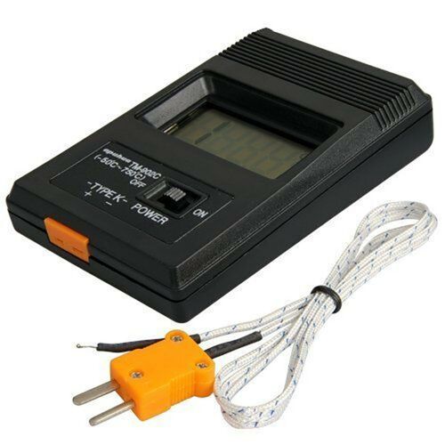TM-902C Digital LCD Thermometer Temperature Reader Meter Sensor K Type Probe