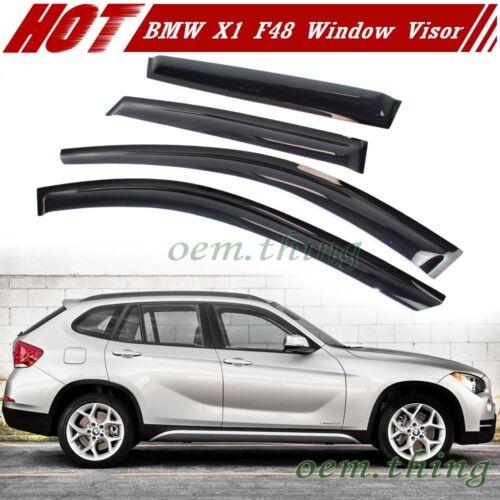 2014-2018 For BMW X1 F48 Window Visors Side Sun Rain Guard Vent Deflectors Smoke