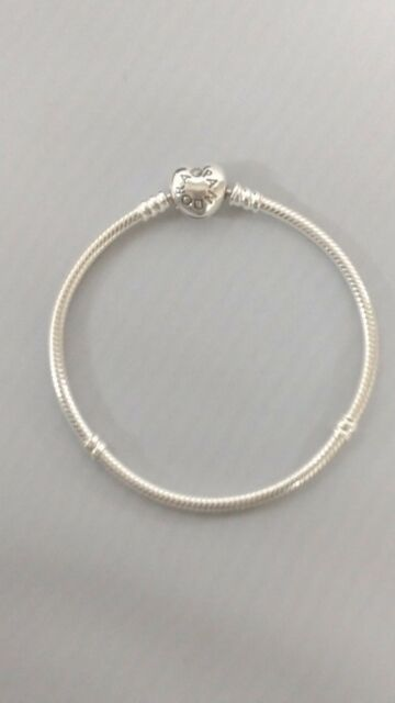 Authentic Pandora 925 Sterling Silver Bracelet Baby Boy With Charms Aa78 Heart Snap Clasp 9 1 Wrist Is 7 5 16 To 8 Yes