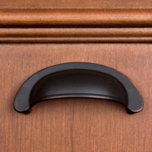 """GlideRite 2-1//2/"""" CC Small Cabinet Cup Bin Pull Oil Rubbed Bronze 87600-ORB-1"""