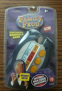 Details about Family Feud Electronic Handheld Game Over 1000 Questions NEW  SEALED iRwin Toy