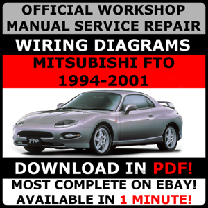 official workshop service repair manual mitsubishi fto 1994 2001 rh ebay com au Mitsubishi Mini Split System Wiring Diagram 2001 Mitsubishi Galant Wiring-Diagram