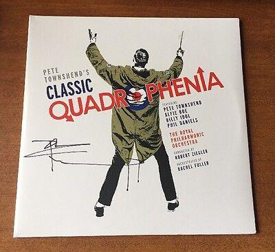 Autographs-original Motivated Pete Townshend Classic Quadrophenia Album Cover W/ Vinyl Jsa/coa P34363