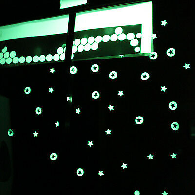 70 Petits Stickers Autocollants Phosphorescent Lumineux La Nuit Chambre Enfant Vendita Calda 50-70% Di Sconto