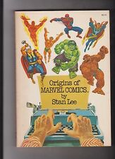 1974 Marvel Fireside Origins of Marvel Comics by Stan Lee TPB Book Hulk/Thor