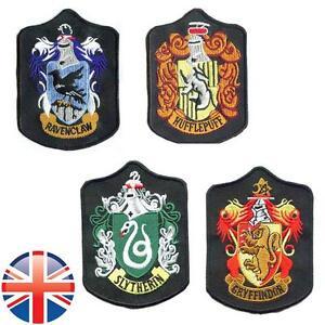UK-Seller-Harry-Potter-Gryffindor-Slytherin-Hufflepuff-Ravenclaw-Patches-Badge