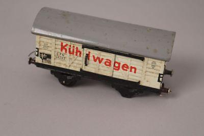 Radient Fleischmann Gfn 46282 Spur 0 Güterwagen Kühlwagen Waggon Modell Eisenbahn Blech 100% Garantie Blechspielzeug
