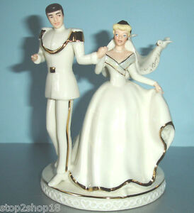 Image Is Loading Lenox Disney Wedding CAKE TOPPER Cinderella Amp Prince