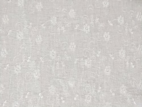 """Bright White Embroidered Bubble Gauze 100/% Cotton 46/"""" Wide Fabric by the Yard"""