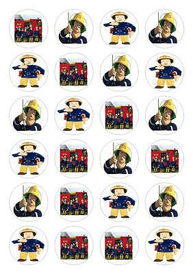 24 Fireman Sam Fairy Cupcake Fairy Cake Toppers Edible Decorations Rice Paper