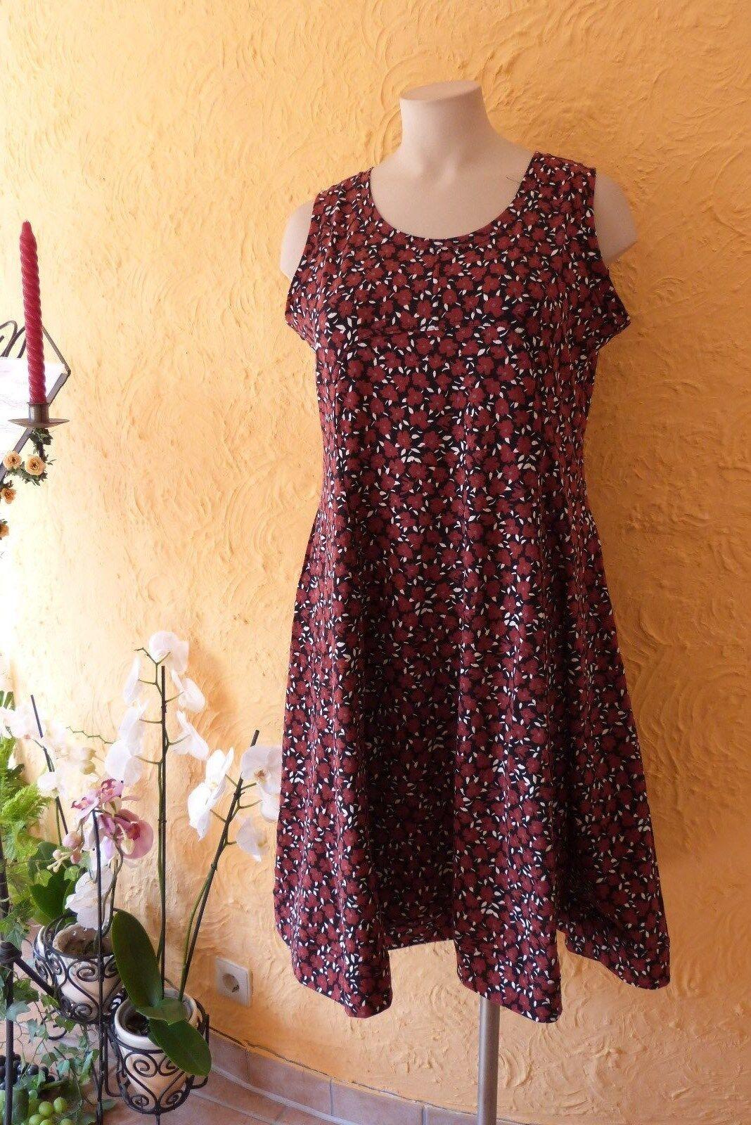 BORIS INDUSTRIES Empire Kleid 46 (4) NEU floral MEGA A-Form Baumwolle LAGENLOOK