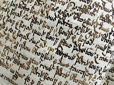 Chirograph Handwritten Manuscript Medieval insular minuscule vellum