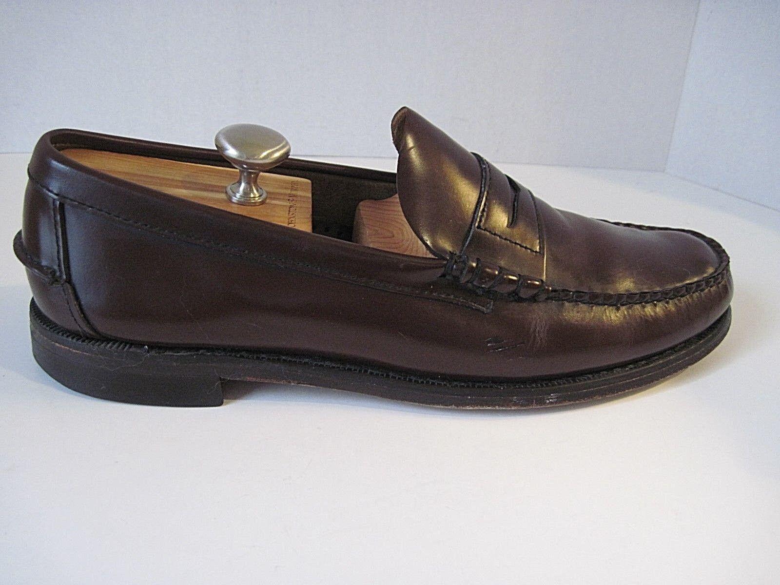 SEBAGO SEBAGO SEBAGO Burgundy Pelle Handsewn Penny Loafer Shoes Uomo Size 13D 191e05