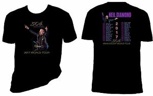 Neil Diamond 50th Anniversary 2017 Concert Tour T shirt