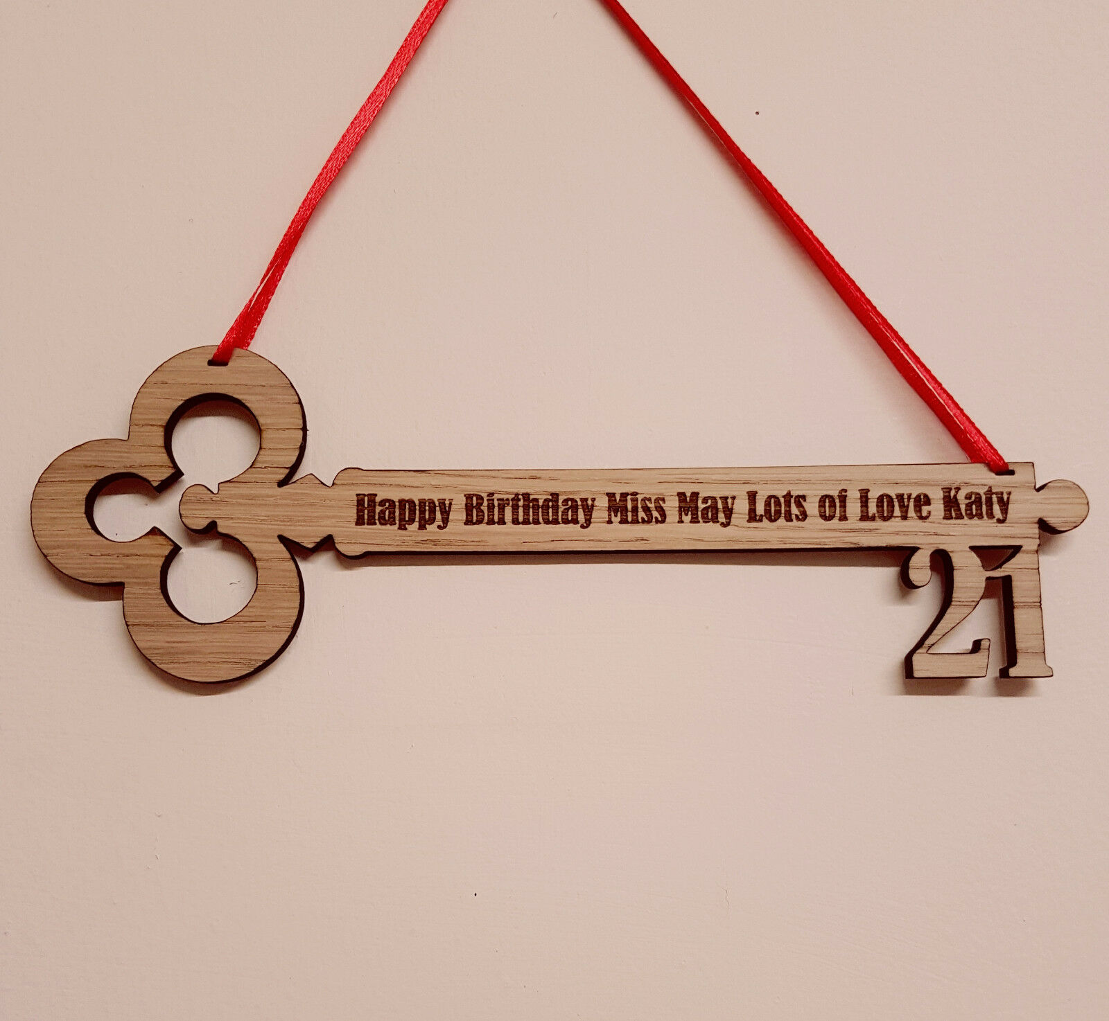 PERSONALISED BIRTHDAY GIFT 21ST 18TH 16TH ENGRAVED WOODEN