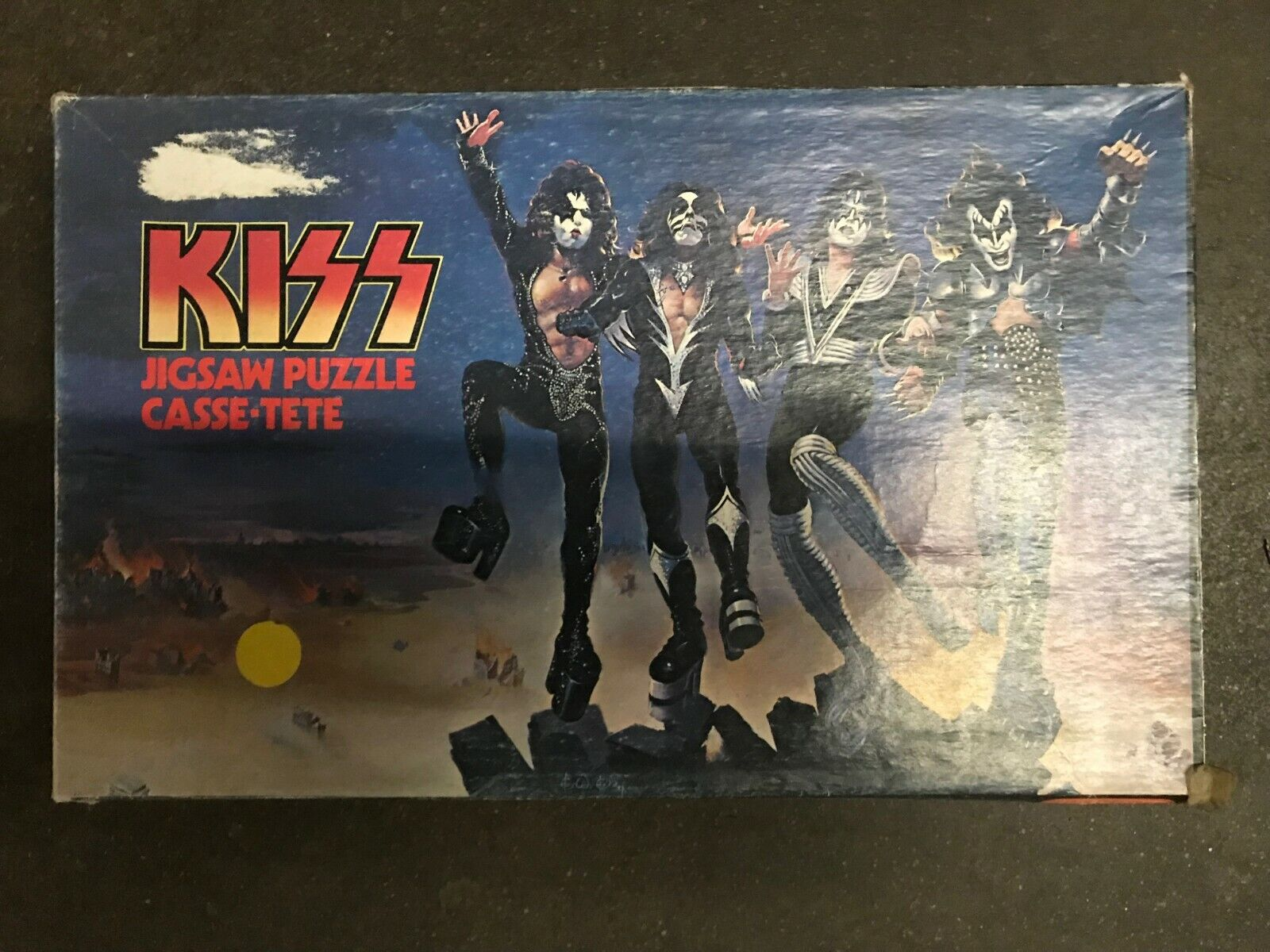 KISS Jigsaw Puzzle Casse-tete Rock and Roll 1970s 1980s All Four Members NOS