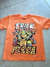 Teenage Mutant Ninja Turtles Halloween Boys T-Shirt Turtle Trick Pizza Large