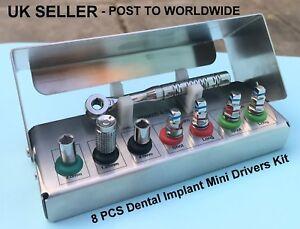 Dental-Implant-Mini-Drivers-Kit-Universal-Ratchet-Wrench-Hex-Screws-8-Pcs-New-CE